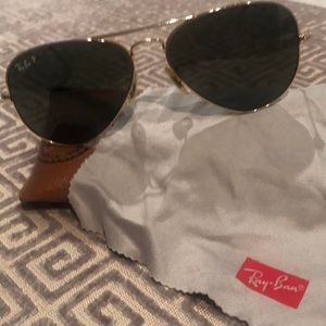 Ray ban polarized classic aviator sunglasses